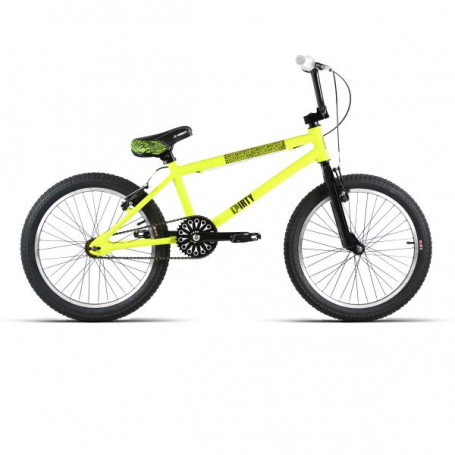 "BMX 20"" ALUMINIO D/AHEAD ""DIRTY"" AMARILLO/NEGRO"